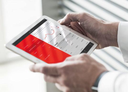 Finanzcockpit mit individuellen Sparkassen-Services und enger Verbindung zur App Unterschriftenmappe