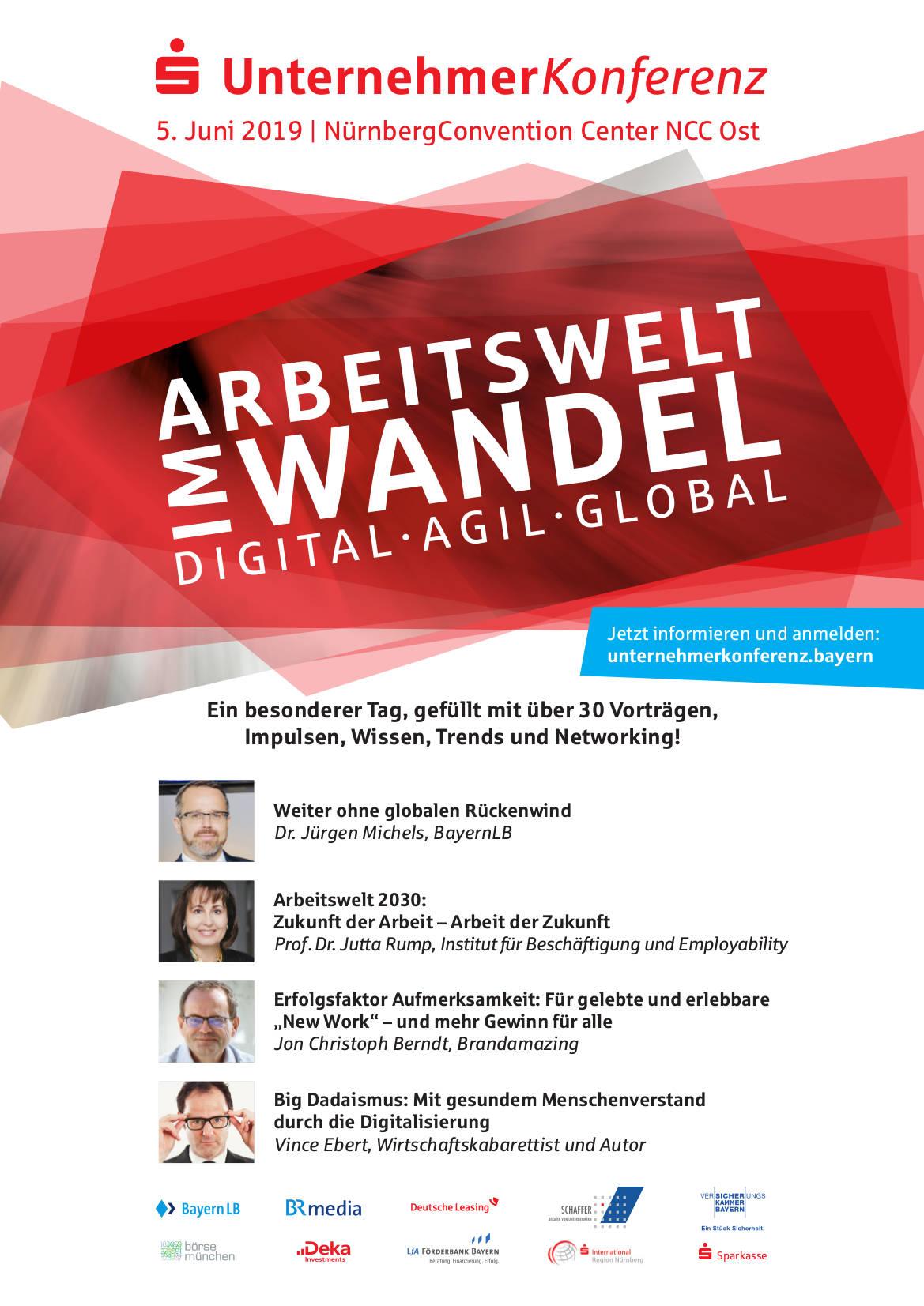 UnternehmerKonferenz 2019: Arbeitswelt im Wandel. Digital. Agil. Global. 3