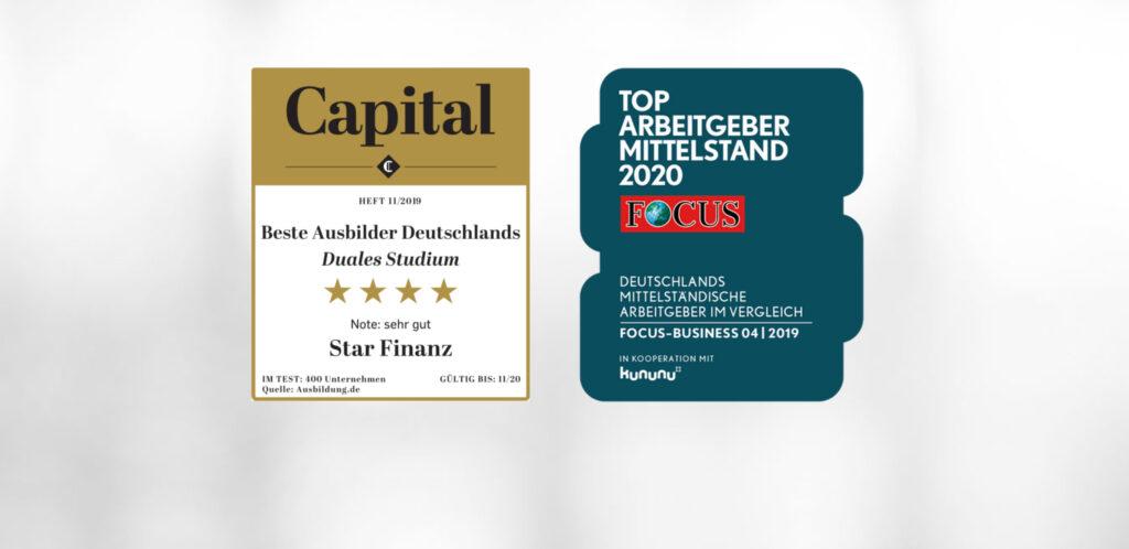 Star Finanz zählt zu den Top-Arbeitgebern und -Ausbildern Deutschlands