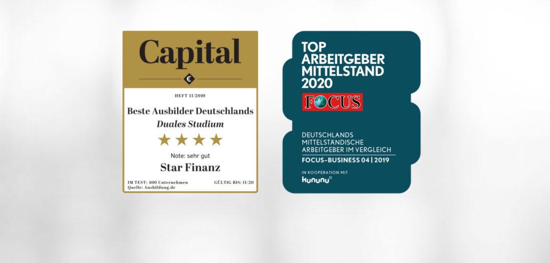 Star Finanz zählt zu den Top-Arbeitgebern und -Ausbildern Deutschlands 2