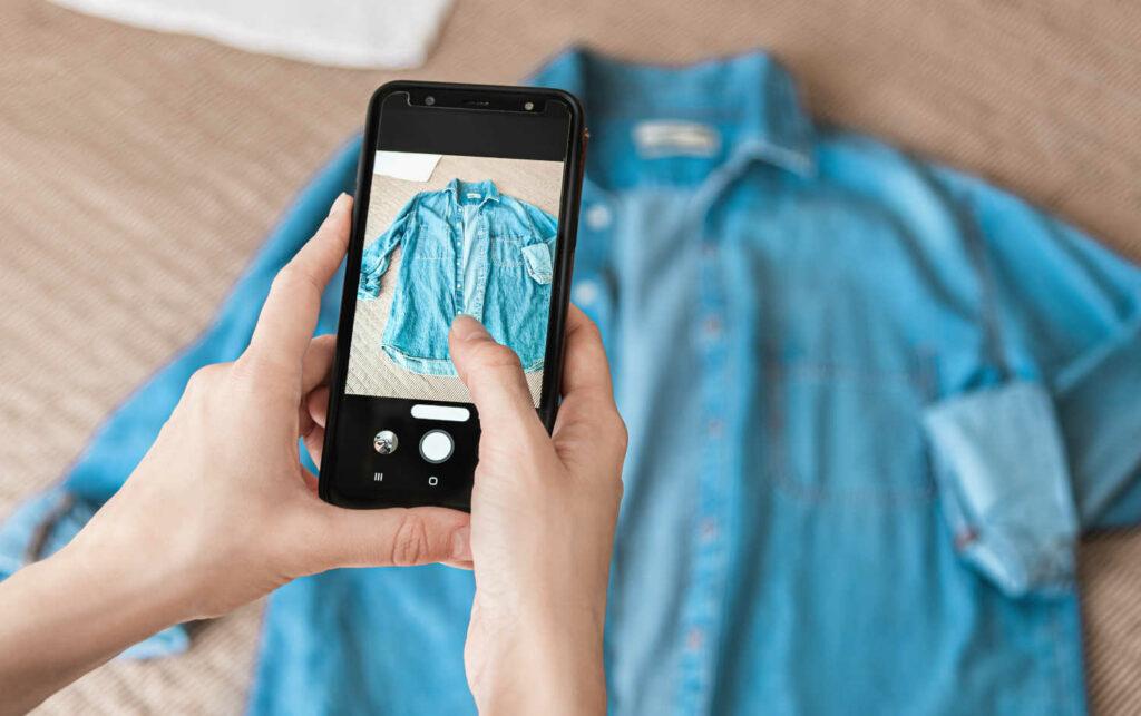 Foto Jeanshemd für Online-Verkauf